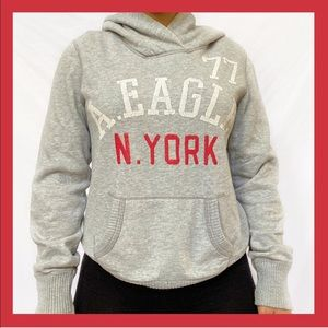 American Eagle Outfitters Grey Red Hoodie